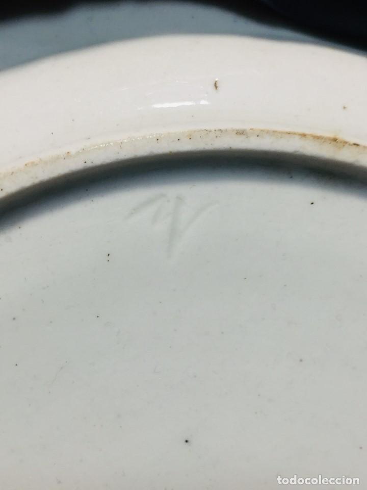 Antigüedades: plato porcelana alemana s xviii ochavado marca impresa 24cms - Foto 14 - 173005892