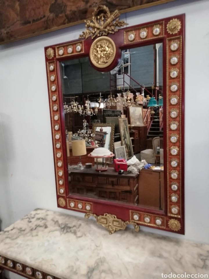 Antigüedades: CONSOLA CON ESPEJO LUIS XVI - Foto 3 - 205234517