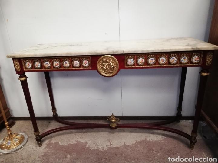 Antigüedades: CONSOLA CON ESPEJO LUIS XVI - Foto 4 - 205234517