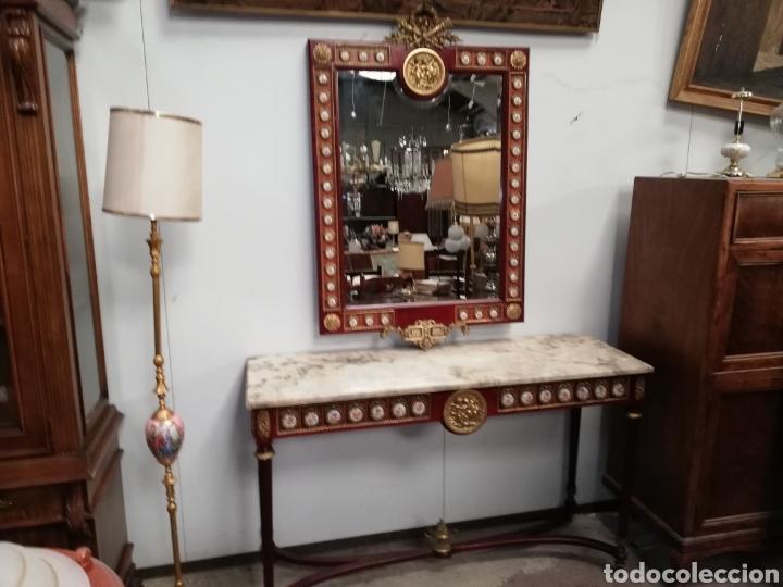 Antigüedades: CONSOLA CON ESPEJO LUIS XVI - Foto 5 - 205234517