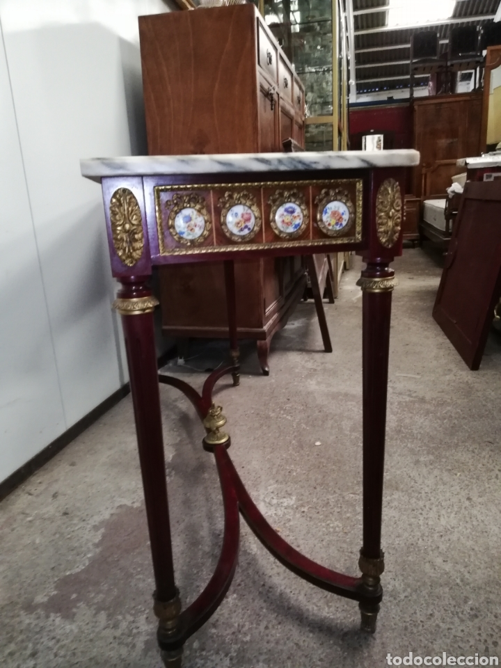 Antigüedades: CONSOLA CON ESPEJO LUIS XVI - Foto 7 - 205234517