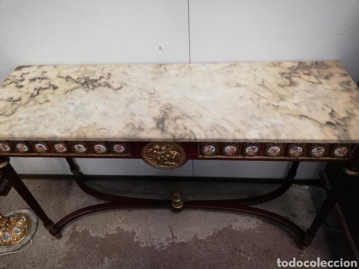 Antigüedades: CONSOLA CON ESPEJO LUIS XVI - Foto 9 - 205234517