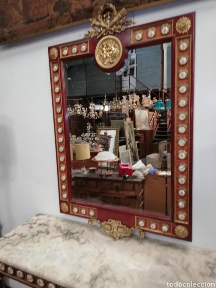 Antigüedades: CONSOLA CON ESPEJO LUIS XVI - Foto 13 - 205234517