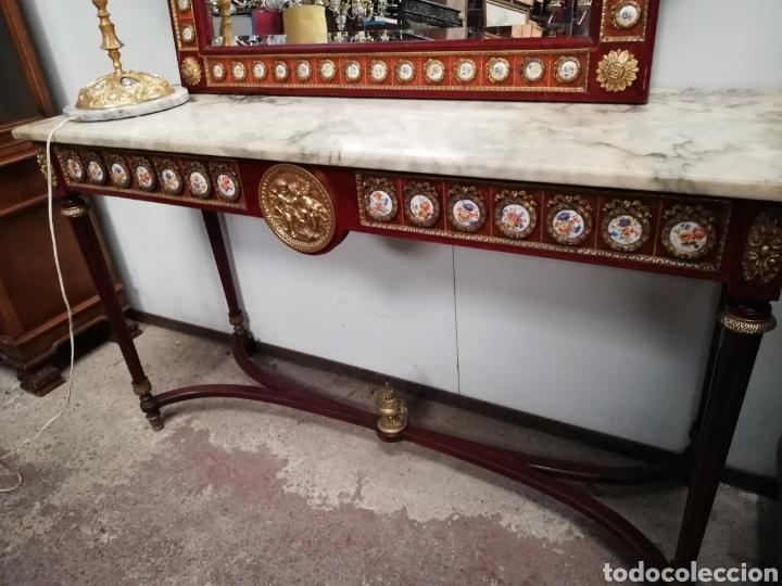Antigüedades: CONSOLA CON ESPEJO LUIS XVI - Foto 14 - 205234517