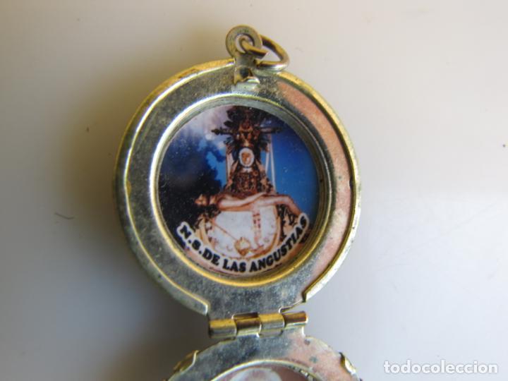Antigüedades: 2- Portafotos Virgen de las angustias y Fray Leopoldo - Foto 6 - 205239290