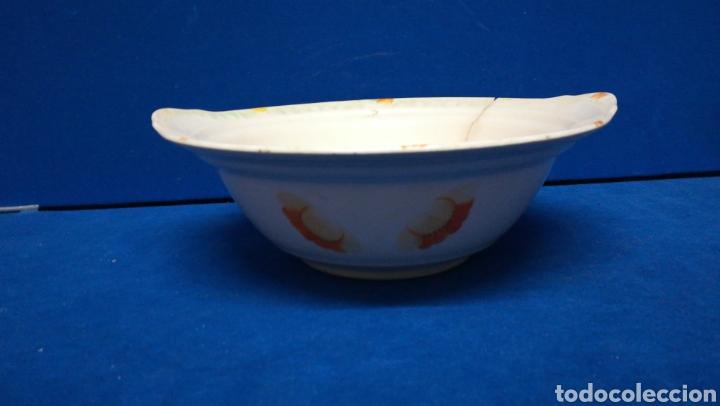Antigüedades: Antiguo cuenco o ensaladera de cerámica, sellada - Foto 7 - 205243712