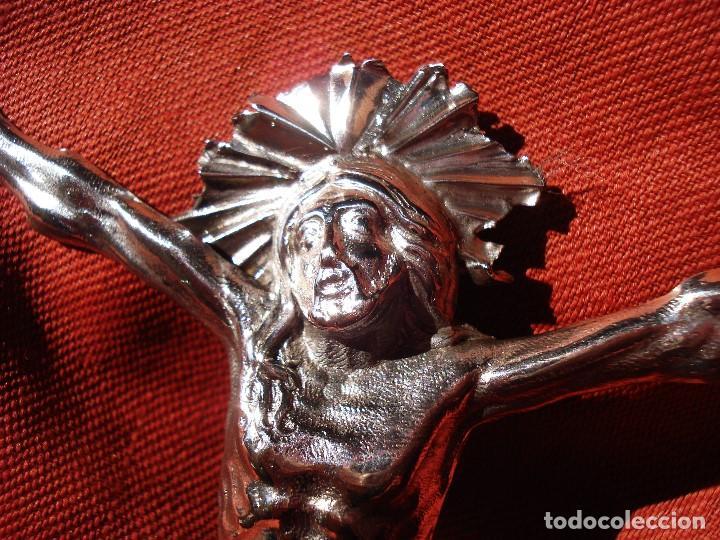 Antigüedades: CRISTO DE PLATA SXIX - Foto 3 - 205247085