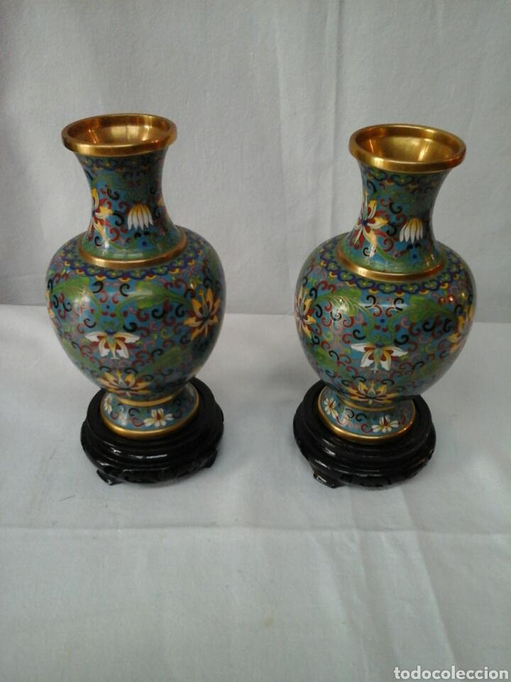 JARRONES CLOISONNE (Antigüedades - Porcelanas y Cerámicas - China)