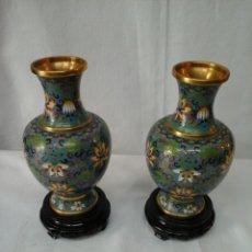Antigüedades: JARRONES CLOISONNE. Lote 205254701