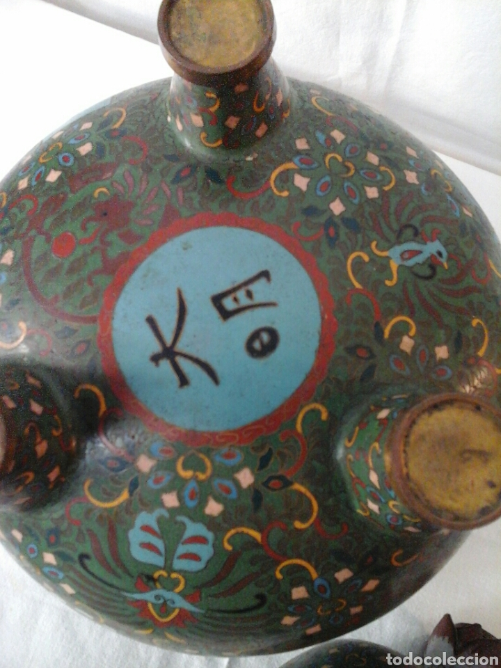 Antigüedades: Incensario Cloisonne - Foto 3 - 205255185