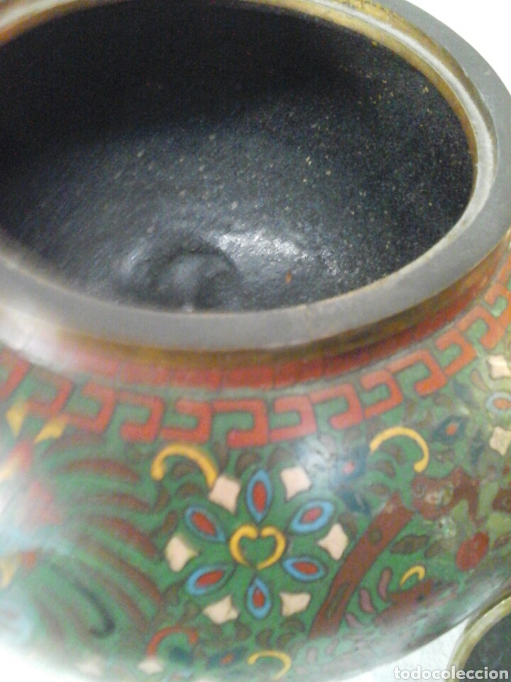 Antigüedades: Incensario Cloisonne - Foto 4 - 205255185