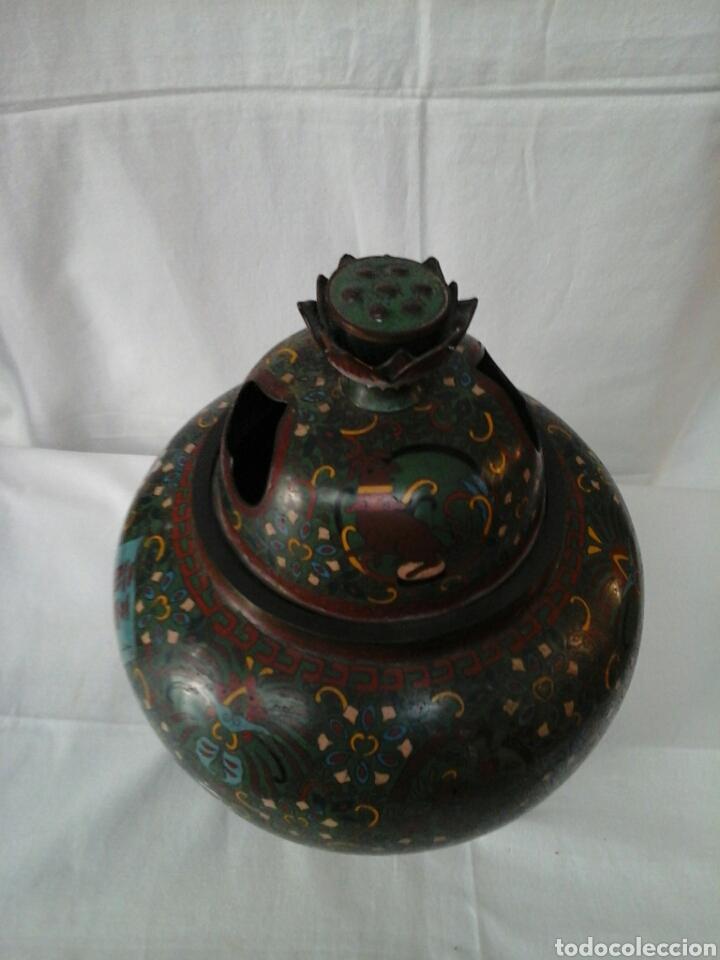 Antigüedades: Incensario Cloisonne - Foto 6 - 205255185