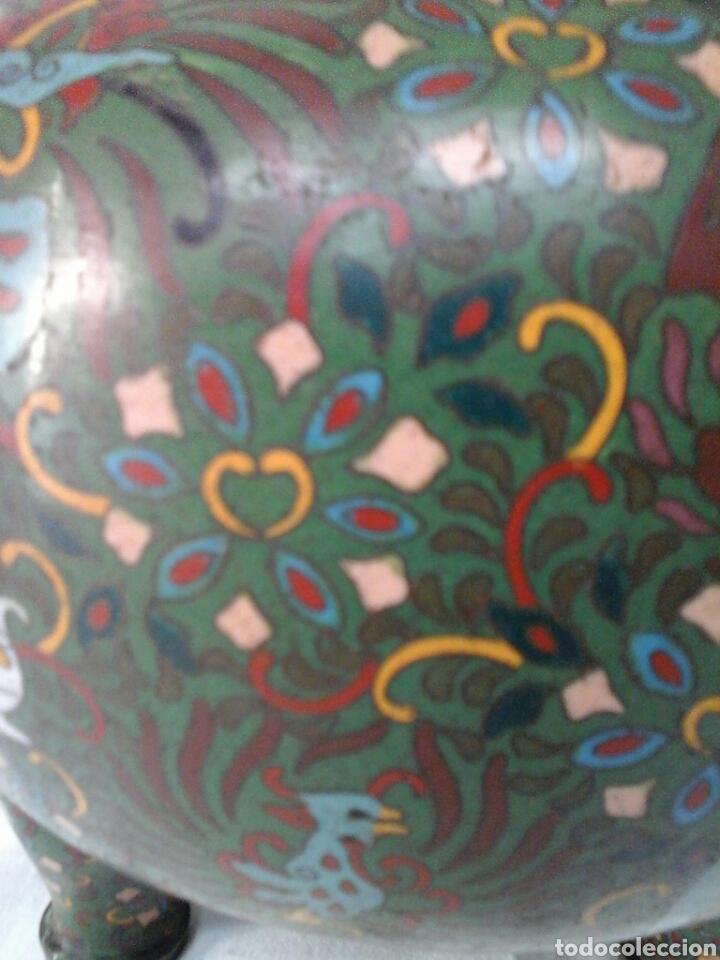 Antigüedades: Incensario Cloisonne - Foto 7 - 205255185