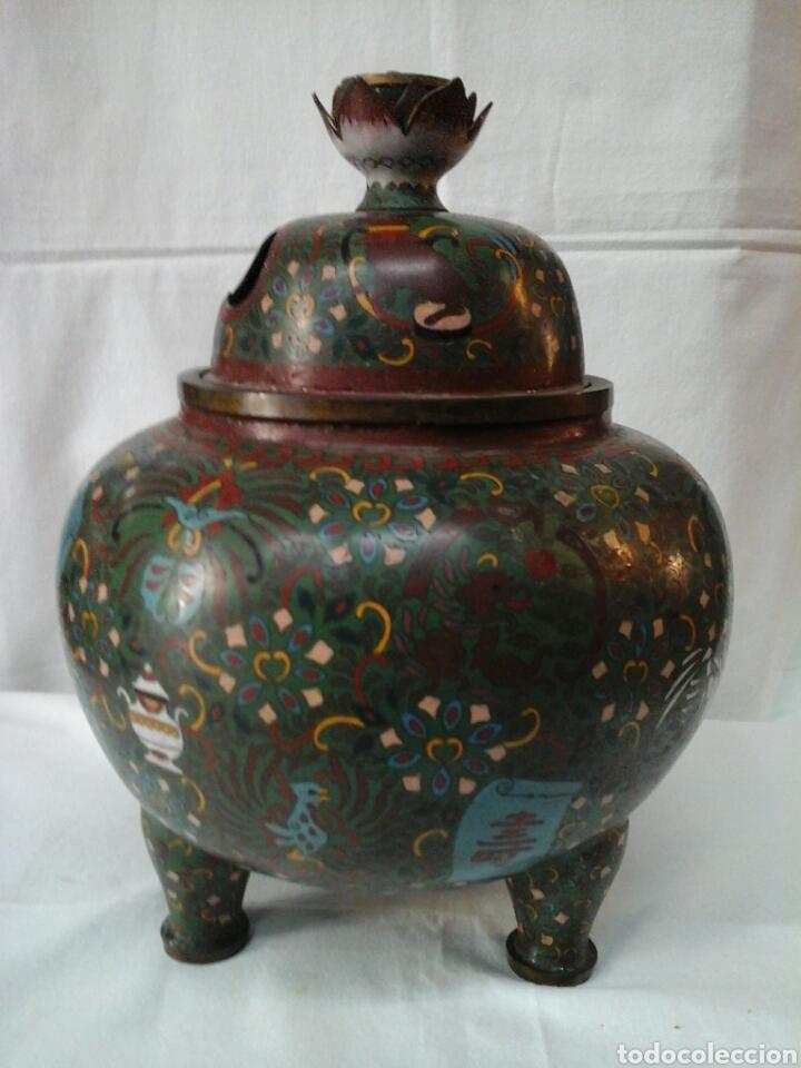 INCENSARIO CLOISONNE (Antigüedades - Porcelanas y Cerámicas - China)