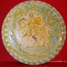 Antigüedades: PLATO DE CERAMICA - PUENTE DEL ARZOBISPO SANTA FE - ESCENA MEDIEVAL. Lote 205256568