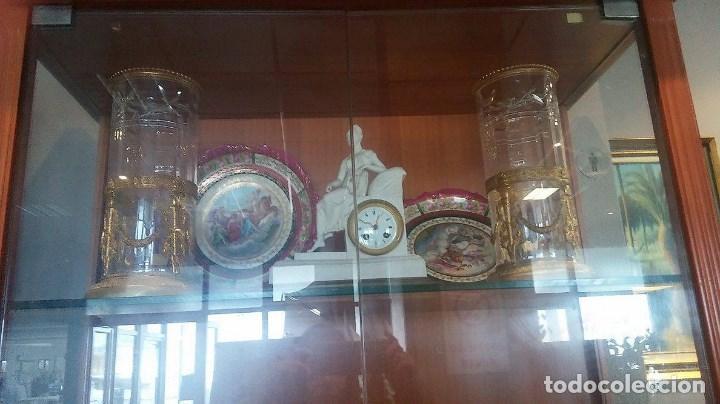 Antigüedades: Pareja JARRONES CRISTAL Y ORO AL MERCURIO..antiguos Luis XVI. ORIGINALES .PIEZAS DE MUSEO. - Foto 4 - 205146700