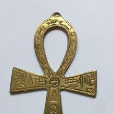 Antigüedades: COLGANTE: ANTIGUA CRUZ ANJ - ANKH (ANSADA, JEROGLÍFICO) EGIPTO. METÁLICA. 1960-70'S. ORIGINAL.. Lote 205274908