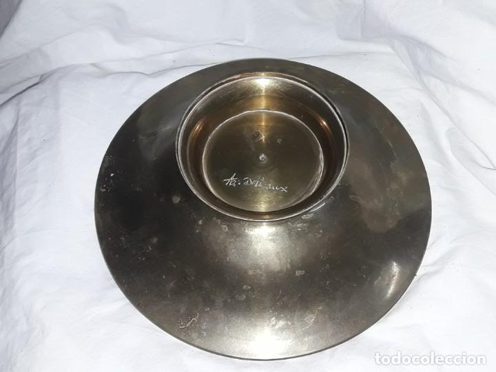 Antigüedades: Bello centro de mesa de bronce con esmalte India 24.5cm - Foto 6 - 205282212