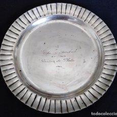 Antigüedades: BANDEJA DE PLATA DE LEY. Lote 205285782