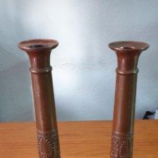 Antigüedades: CANDELABROS HECHOS AMANO. Lote 205326567