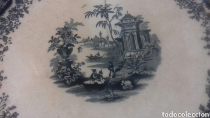 Antigüedades: Antigua fuente de la cartuja pickman sigloxix - Foto 2 - 205335520