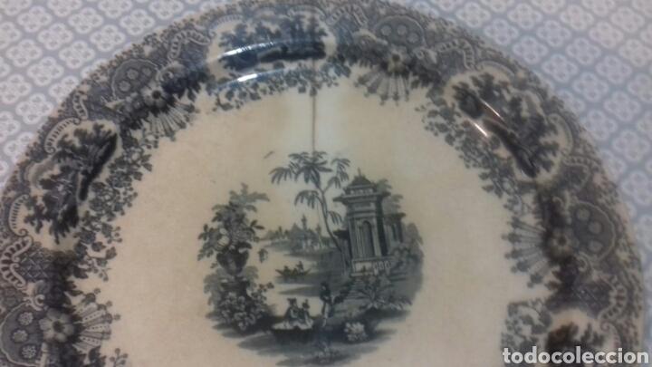 Antigüedades: Antigua fuente de la cartuja pickman sigloxix - Foto 4 - 205335520
