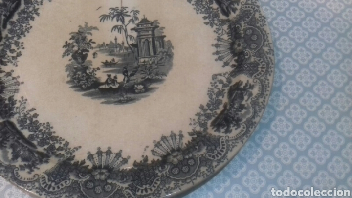 Antigüedades: Antigua fuente de la cartuja pickman sigloxix - Foto 5 - 205335520