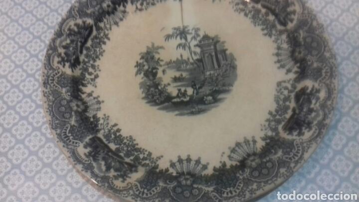 Antigüedades: Antigua fuente de la cartuja pickman sigloxix - Foto 7 - 205335520