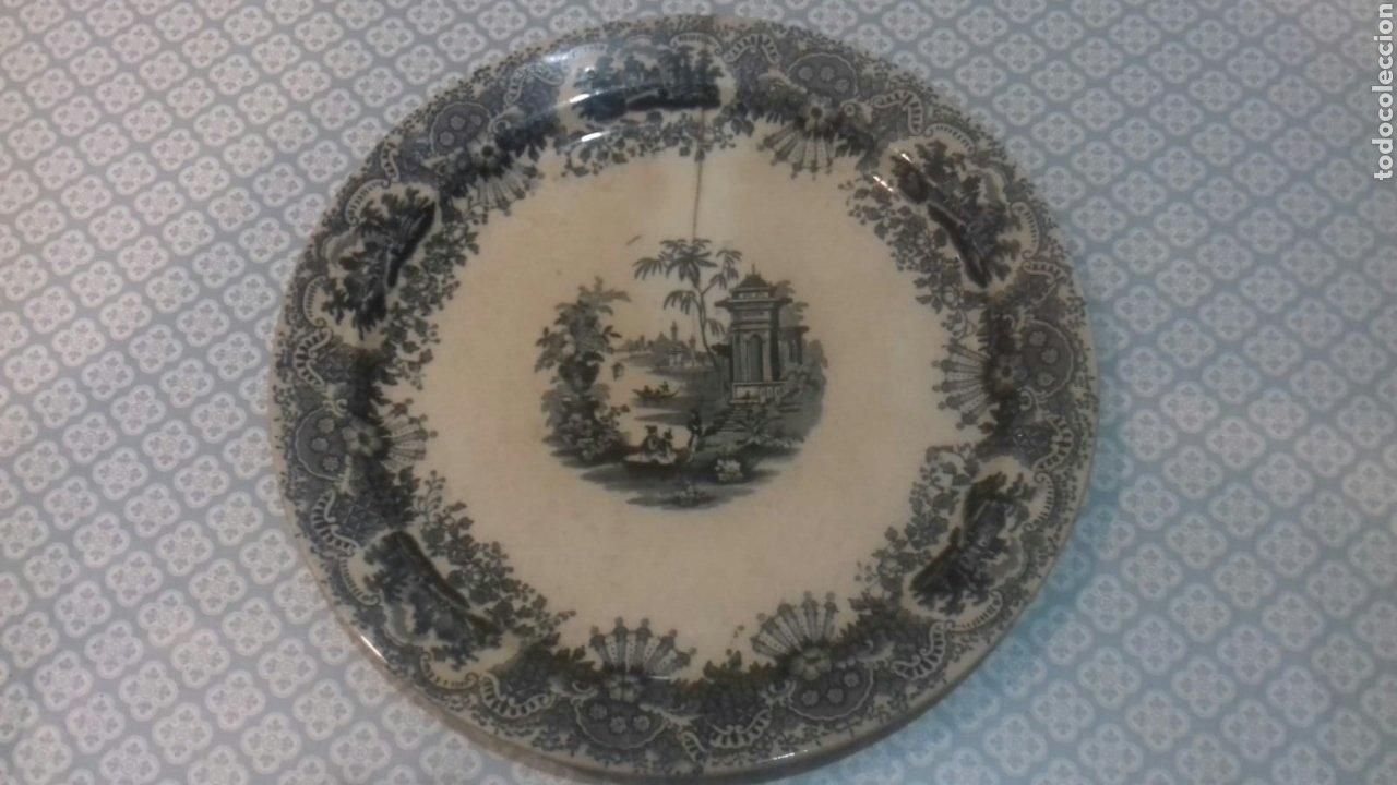 ANTIGUA FUENTE DE LA CARTUJA PICKMAN SIGLOXIX (Antigüedades - Porcelanas y Cerámicas - La Cartuja Pickman)