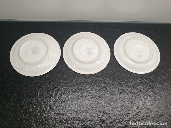 Antigüedades: Tres platos de taza de café. Santa Clara - MAH, Vigo, España (Envío 3,33€) - Foto 2 - 205335826