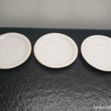 Antigüedades: TRES PLATOS DE TAZA DE CAFÉ. SANTA CLARA - MAH, VIGO, ESPAÑA (ENVÍO 3,33€). Lote 205335826