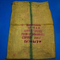Antigüedades: SACO DE CAFÉ - INDONESIA - BARCELONA - 75 X 110 CMS. Lote 205343473