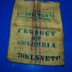 Antiquités: SACO DE CAFÉ - COLOMBIA - 73 X 92 CMS. Lote 205343515