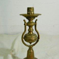 Antigüedades: APLIQUE O CANDELABRO DE BARCO EN BRONCE. Lote 205345175