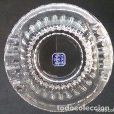 Antigüedades: ELEGANTE CENICERO CRISTAL DE MURANO INCRISA SIN USO CON ETIQUETA. Lote 205351683