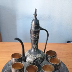 Antigüedades: VINTAGE ÁRABE TURCO DE COBRE Y LATÓN, CAFÉ-TÉ-POT. Lote 205361695