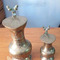 Antigüedades: JARRAS DE LATON. Lote 205362605