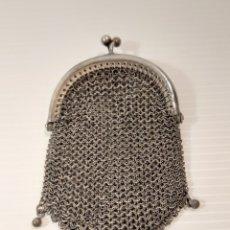 Antigüedades: ANTIGUO MONEDERO DE MALLA DE PLATA. Lote 205364362