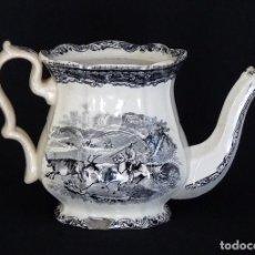 Antigüedades: TETERA ESTAMPADA DE CERAMICA DE CARTAGENA. Lote 205365502