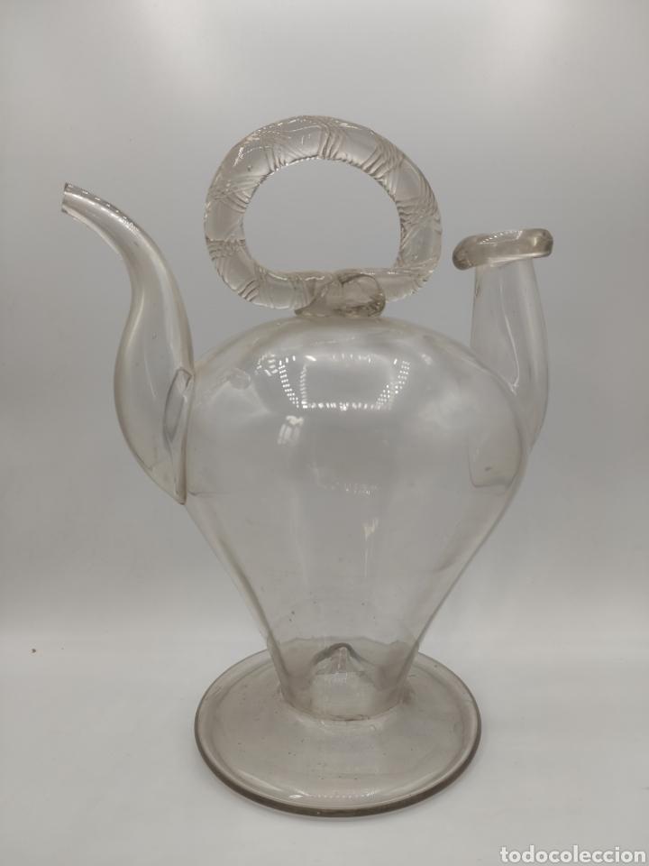 BOTIJO EN CRISTAL SOPLADO. LA GRANJA. (Antigüedades - Cristal y Vidrio - La Granja)