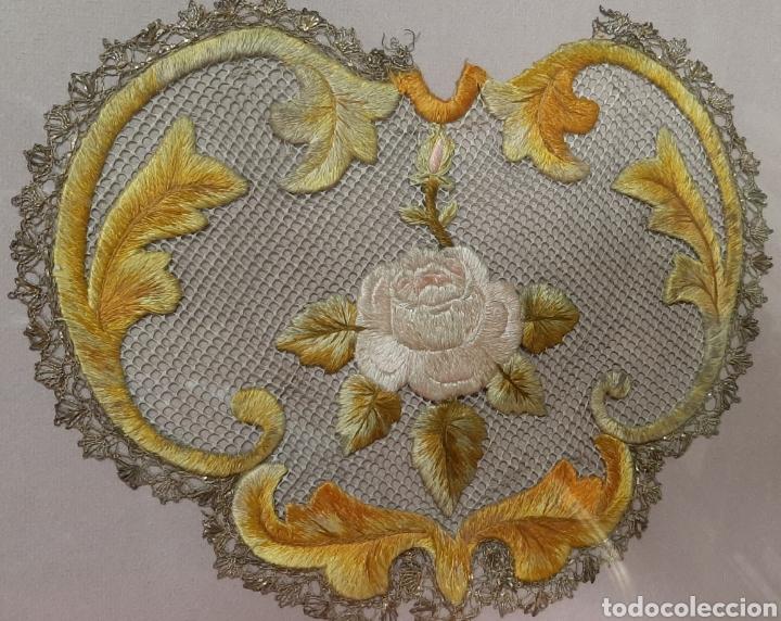 Antigüedades: IMPORTANTE ANTIGUO PECTORAL BORDADO ENMARCADO. - Foto 2 - 205373677