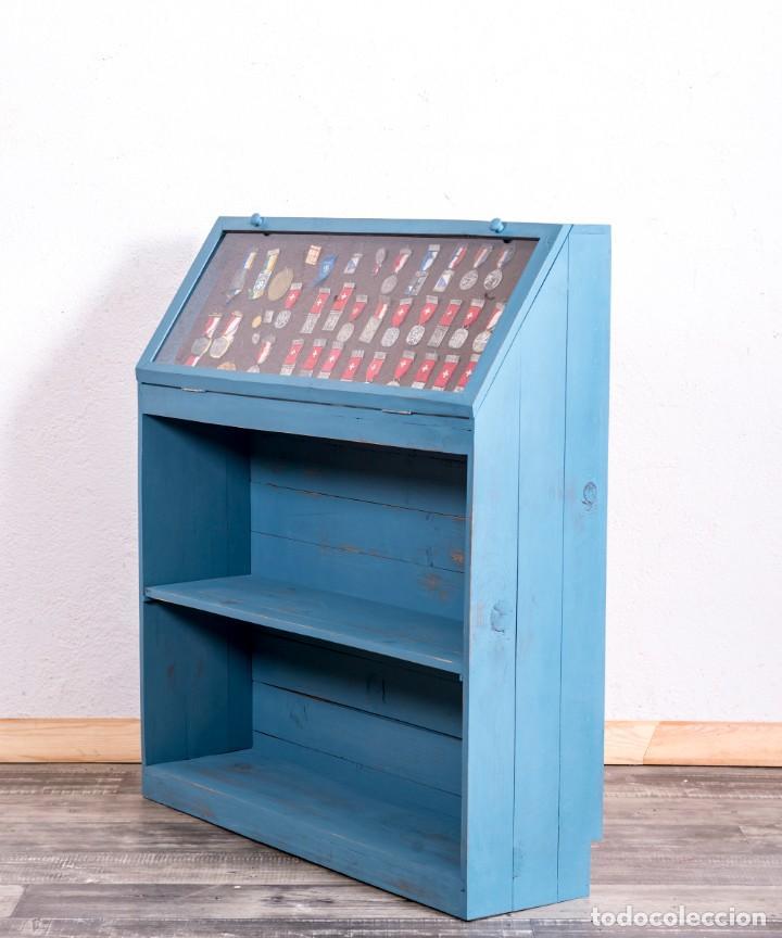 Antigüedades: Mueble Expositor Antiguo Restaurado Toulon - Foto 5 - 205375253
