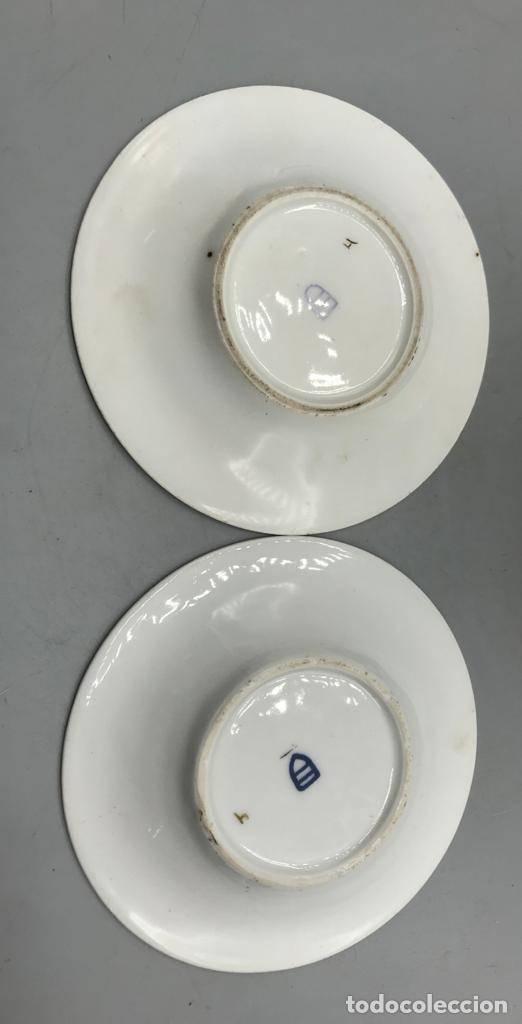 Antigüedades: Lote de tres platos de Viena Austria con oro y decorados con querubines. - Foto 5 - 205383180