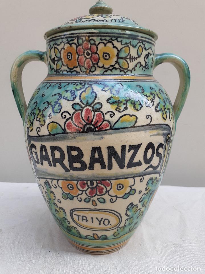 Antigüedades: MAGNIFICA ORZA - DECORADA Y ESMALTADA SANTAFE - PUENTE DEL ARZOBISPO - CANTARO . OLLA - TARRO - Foto 2 - 205383352