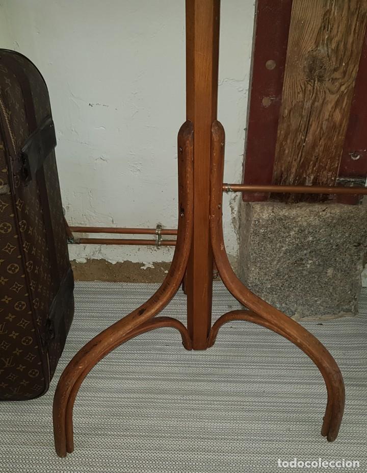 Antigüedades: Perchero de pie de madera - Foto 2 - 205383600
