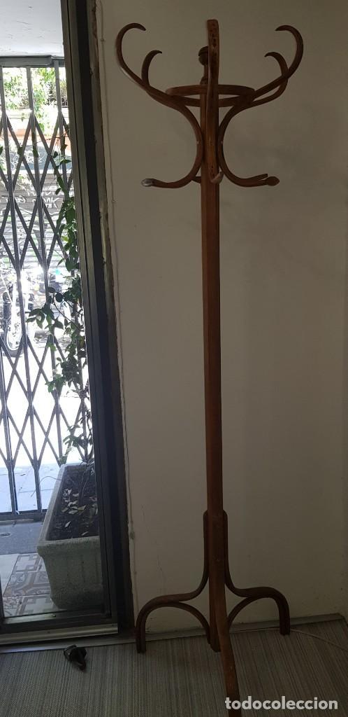 Antigüedades: Perchero de pie de madera - Foto 3 - 205383600