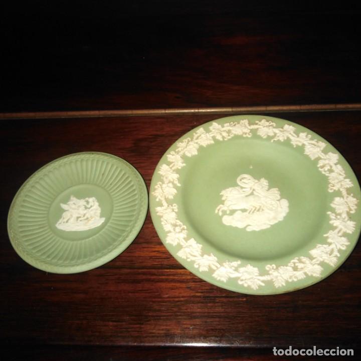 ANTIGUOS PLATOS DE COLECCIÓN DE PORCELANA INGLESA DE WEDGWOOD (Antigüedades - Porcelanas y Cerámicas - Inglesa, Bristol y Otros)