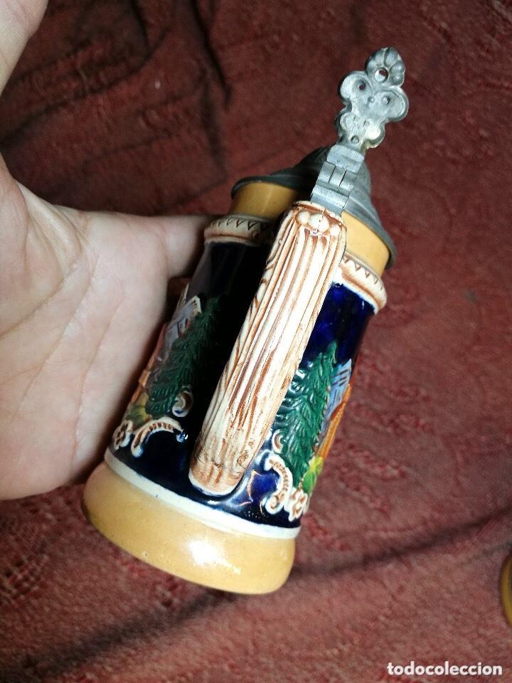 Antigüedades: Tradicional y bellísima jarra de cerveza con tapa de Petrel. - Foto 5 - 205385468