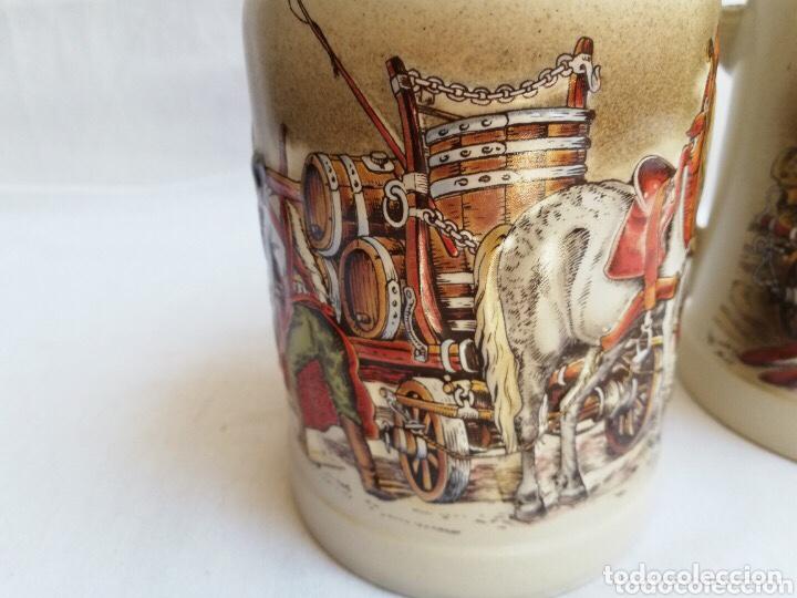 Antigüedades: Lote de dos jarras de cerveza Alemanas de porcelana original. Gerz - Foto 3 - 205386155