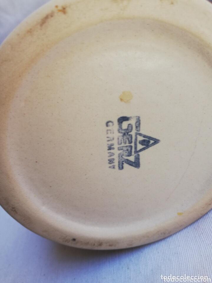 Antigüedades: Lote de dos jarras de cerveza Alemanas de porcelana original. Gerz - Foto 6 - 205386155